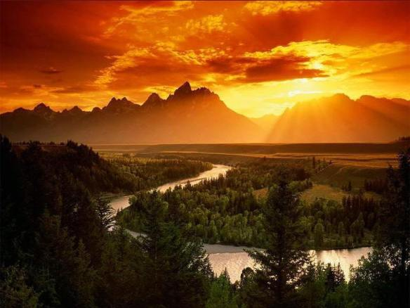The type of sunset I see when I dream about having a mountain home...